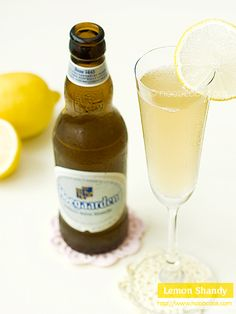 """Refreshing lemon shandy. A simple concoction of lemonade and beer. This is a super short and simple recipe. Nice and easy, and yet so refreshing for the perpetual hot & humid """"summer"""" we have in Singapore. Lemon shandy is made up of, as you may have guessed from the name, lemonade and beer"""