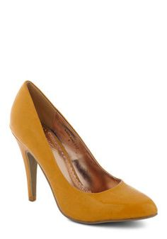 Updating a Classic Heel in Mustard, #ModCloth