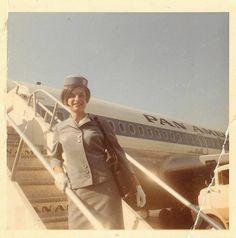 Pan Am stewardess Barbara Braunstein