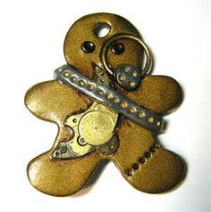 Steampunk Polymer Clay Christmas Ornaments - Bing images