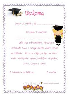 FINALISTAS PRÉ-ESCOLAR - Pesquisa Google Kindergarten Graduation, Graduation Day, Pre K Schools, Portfolio Covers, Professor, Education, Origami, Routine, Frames