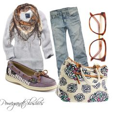 Perfect casual Fall outfit! I just don't like the shoes.
