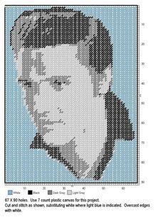 Elvis plastic canvas