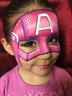 62 Ideas Superhero Art For Kids Face Paintings Superhero Face Painting, Girl Face Painting, Face Painting Tips, Face Painting Designs, Painting For Kids, Paint Designs, Body Painting, Face Paintings, Face Paint Makeup