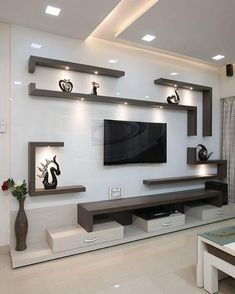 Living Room Partition Design, Living Room Tv Unit Designs, Ceiling Design Living Room, Home Room Design, Tv Wall Unit Designs, False Ceiling Living Room, Modern Living Room Design, Tv Wall Ideas Living Room, Bedroom Tv Unit Design