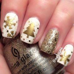 Más de 20 diseños de uñas para navidad – Christmas nail art   UÑAS DECORADAS - NAIL ART - Part 2