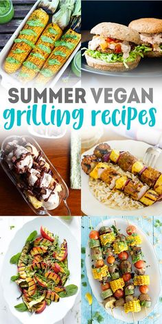 20 Tasty Vegan Grilling Recipes Make these vegan grilling recipes this summer! Perfect for a cookout or BBQ with friends and family, these recipes are fun and unique. From corn on the cob, to veggie burgers, to grilled banana splits. Vegan Barbecue, Barbecue Recipes, Grilling Recipes, Healthy Grilling, Vegetarian Grilling, Vegan Recipes Easy, Veggie Recipes, Whole Food Recipes, Grilled Vegan Recipes