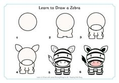 Object drawing for children learn to draw a zebra animal doodles zebra art cartoon drawings easy . object drawing for children Easy Cartoon Drawings, Cartoon Drawing Tutorial, Easy Drawings For Kids, Drawing For Kids, Animal Drawings, Zebra Cartoon, Zebra Drawing, Zebra Art, Directed Drawing