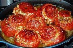 Retete de mancaruri: Retete de post - Rosii umplute Raw Vegan Recipes, Vegan Foods, Vegetarian Recipes, Romanian Food, Romanian Recipes, Daniel Fast, Vegetable Recipes, Vegetables, Cooking