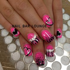Beautiful pink nail design by Nail Bar Lounge nailbarlounge.tum… Beautiful pink nail design by Nail Bar Lounge nailbarlounge. Fancy Nails, Diy Nails, Pretty Nails, Pink Nail Designs, Acrylic Nail Designs, Acrylic Nails, Heart Nail Designs, Valentine Nail Art, Manicure Y Pedicure