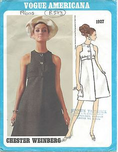 "1960s vintage vogue #sewing pattern b34"" dress #(r573) by 'chester #weinberg',  View more on the LINK: 	http://www.zeppy.io/product/gb/2/251150173749/"