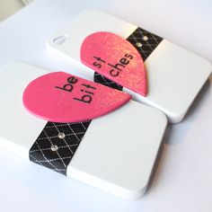 My best friend needs to get an iPhone so we can get these... Best Bitches iPhone 4 cases by VanityCases on Etsy, $25.00