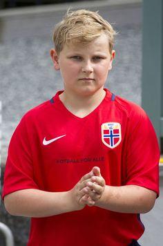 Prince Sverre Magnus, 14 juin 2017, Match de football amical annuel, Stade de Skaugum (Asker, Norvège)