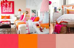 love orange and pink!