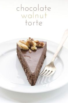Low Carb Grain-Free Chocolate Walnut Torte Recipe