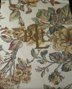 "Ralph Lauren Grace Floral Gold Rectangle Tablecloth 60"" x 84"" 100% Cotton NIP #RalphLauren"