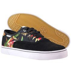 HUF - Mateo Shoes Black Floral http://www.urbanlocker.com/produits/21454-mateo-shoes-black-floral/