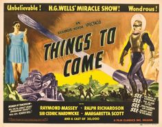 """Things to Come"" (1936) H.G. Welles and Korda---an Art Deco Streamline modern look at the future. The acting is hammy, but the sets, furniture and costumes make it worth the watch. <3 it!"