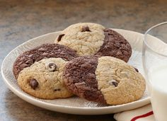 The perfect combo: brownie + chocolate chip cookie. And it's gluten-free.