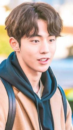 Nam Joohyuk: I need a black jumper actually Korean Men Hairstyle, Cool Hairstyles For Men, Haircuts For Men, Asian Actors, Korean Actors, Female Action Poses, Mens Perm, Korean Boys Ulzzang, Weightlifting Fairy Kim Bok Joo