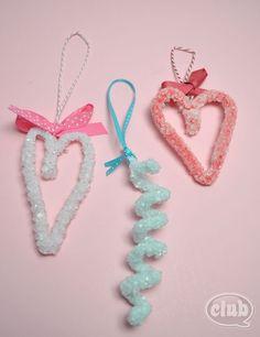 How to Make Heart Shaped Borax crystal decorations