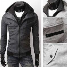 Mens Fashion Casual Stylish Slim Fit Zip Hoodies Jacket classic Trend Casual Mens coat  JK10