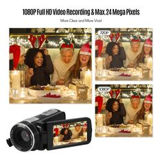 Andoer Portable FHD 1080P Digital Video Camera Camcorder Sales Online black - Tomtop Smartwatch, Apple Technology, Full Hd Video, Video Camera, Camcorder, Digital, Black, Smart Watch, Black People