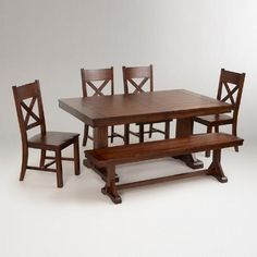 One of my favorite discoveries at WorldMarket.com: Mahogany Verona Dining Collection