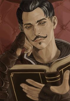 Dorian spending some time reading - instead of being dragged along on adventures with his dear Amatus. XD