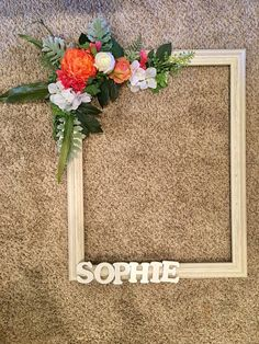 This beautiful customized x floral photo prop frame AKA selfie frame is . Baby Shower Photo Booth, Baby Shower Photos, Shower Baby, Giant Paper Flowers, Silk Flowers, Photo Cutout, Photo Frame Prop, Wedding Photo Props, Baby Nursery Decor