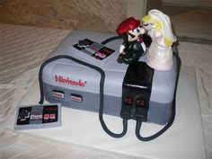 Nintendo 8-Bit Wedding Cake...if josh ever gets married!  HA!