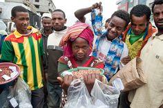 Addis Abeba, Merkato. Ella es la estrella
