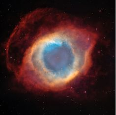 Helix Nebula, Hubble Telescope, NASA photograph The Eye of God.The Helix Nebula (also known as The Helix, NGC or Caldwell is a large planetary nebula (PN) located in the constellation Aquarius! Helix Nebula, Planetary Nebula, Orion Nebula, Eagle Nebula, Cosmos, Nasa Hubble Images, Gods Eye, Hubble Space Telescope, Hubble Images