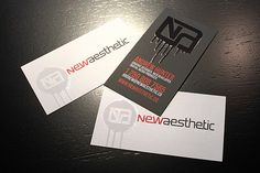 91 best 3d business cards images on pinterest 3d business card black modern newaesthetic business cards samples created with raised ink and spot uv finish reheart Choice Image