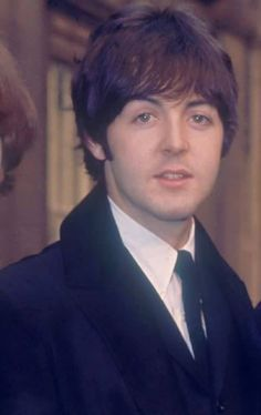 Paul McCartney accepting MBE award, October 1965