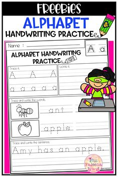 This product has 3 pages of handwriting worksheets. This product will teach children writing the alphabet letters and sentences. This product is great for Kindergarten or first graders. You can use as a classroom activities, morning work, word work and literacy centers. Kindergarten   First Grade  Reading  Writing   Grammar   Handwriting Practice   Handwriting Practice Literacy Centers   Alphabet Letters  Printables  Morning Work   homework  Free Lessons Worksheets Printable Alphabet Letters, Handwriting Alphabet, Handwriting Worksheets, Handwriting Practice, Kindergarten Literacy, Literacy Centers, Classroom Activities, Preschool, Teaching Kids
