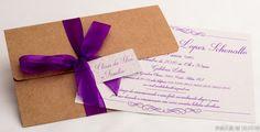 convites reais, festas de sucesso: ANIVERSÁRIO    Convite rústico com requinte do laço e impressão violeta. Cor e estilo em harmonia!!   Parabéns à aniversariante Maribel Lopes Schenatto!!  (festa dia 02 de setembro de 2016 - Pelotas-RS)    #15anos #convite #inkgraffestas #festa  #festas #formatura #inkgraffestas #convites #especiais  #casamento #festas #inkgraffestas #convites #perfeitos