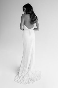KWH by Karen Willis Holmes 'Nerada' wedding gown.   Follow us - @KWHBridal   Photography - @beksmithjournal . #karenwillisholmes #bridetobe #sequinweddingdress #modernwedding  #kwhNerada