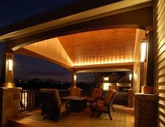 Image Result For Lighting Ideas For Covered Deck · Outdoor Patio ...