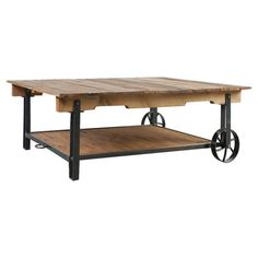 Coffee table, showcasing a cart-inspired design.  Love this and could make it any size needed to fit.    Prod...