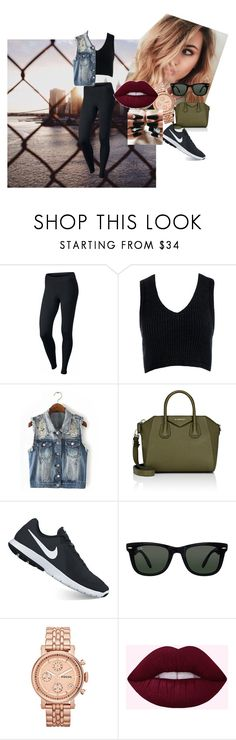 """""""Basic"""" by bryannaurton on Polyvore featuring NIKE, Sans Souci, Givenchy, Ray-Ban, FOSSIL and basic Fossil, Givenchy, Ray Bans, Shoe Bag, Nike, Polyvore, Stuff To Buy, Accessories, Shopping"""