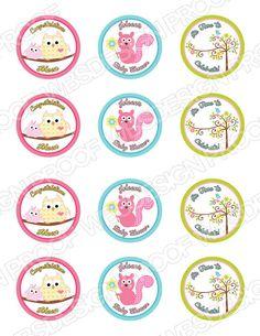 Printable Happi Tree Cupcake Toppers for Showers & Birthdays (Kids Line Dena Happi Tree) on Etsy, $10.50