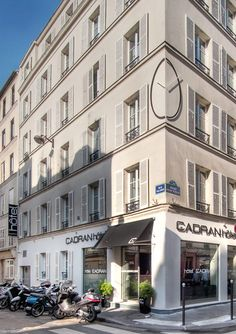 The building of the Cadran Hotel in Paris, 10 rue du Champs de Mars in the 7th district (near the Eiffel Tower). http://www.cadranhotel.com/
