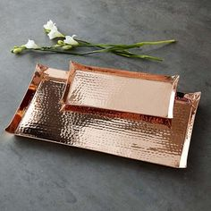 Copper Hammered Tray #williamssonoma