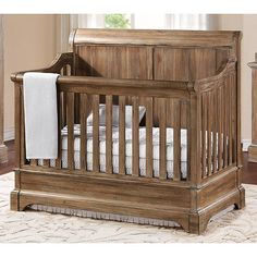 Kevin, I want this crib. If it's not available when we have a baby, we need to make one just like it. Bertini Pembrooke 4-in-1 Convertible Crib - Natural Rustic | BabiesRUs