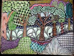 Trees-art journal
