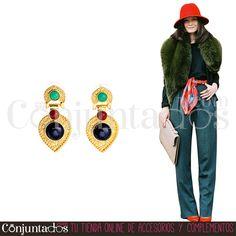 Los Petra son los pendientes perfectos para un #streetstyle divino ★ 13,95 € en https://www.conjuntados.com/es/pendientes-dorados-petra-con-piedras-multicolor.html ★ #novedades #pendientes #earrings #conjuntados #conjuntada #joyitas #lowcost #jewelry #bisutería #bijoux #accesorios #complementos #moda #eventos #bodas #invitadaperfecta #fashion #fashionadicct #picoftheday #outfit #estilo #style #GustosParaTodas #ParaTodosLosGustos
