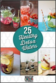 Delicious detox water for fat burning and to lose weight. | http://makeuptutorials.com/makeup-tutorials-25-detox-waters-for-clean-and-healthy-living/