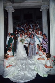 A large number of royals attended the Greek royal wedding in 1964.