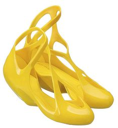 The Melissa shoes, designed by architect Zaha Hadid, are 3D rendered and could be 3D printed.